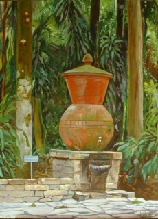 13-piece-clay-pot-used-as-ornamental-fountain-in-its-trajectory-botanical-garden-s-paulo-brazil