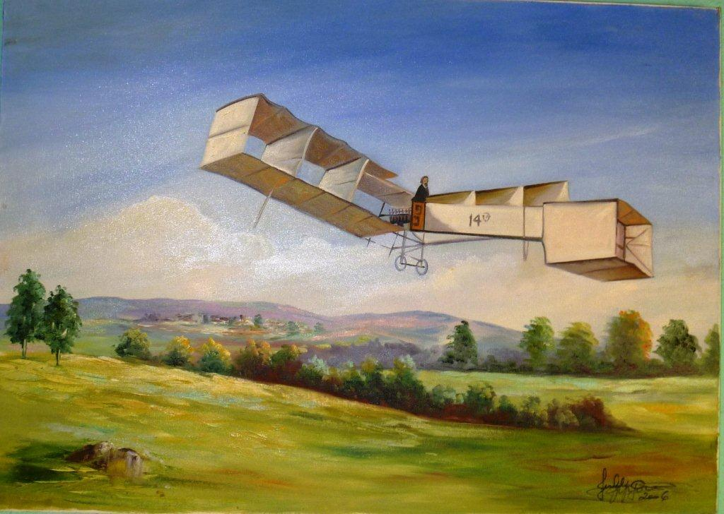 7-then-built-a-hybrid-machine-the-14-bis-an-airplane-attached-to-a-hydrogen-balloon-to-reduce-weight-and-facilitate-the-liftoff-bagatelle-prize-archoleaon-12-11-1906-2