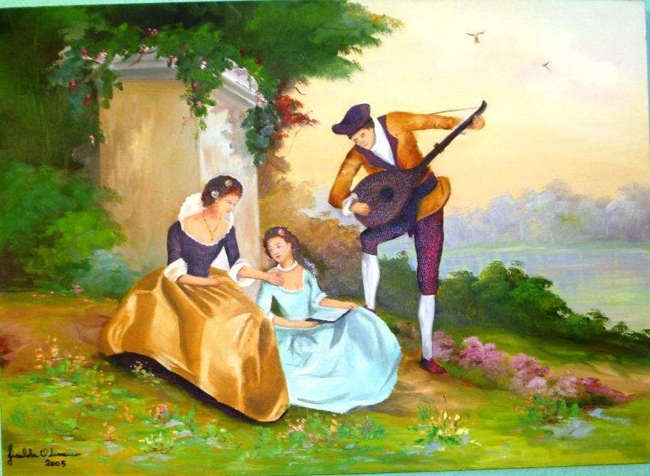 3-a-lord-trying-to-win-his-lady-the-romantic-afternoon-doing-serenade-in-dismal-look
