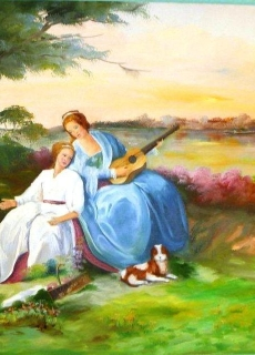 4-4-a-bourgeois-with-her-maid-enjoying-nature-having-a-picnic-at-the-sound-of-beautiful-music-and-harmony
