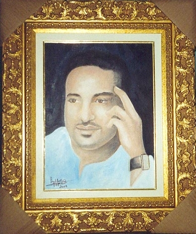 Location: Saudi Arabia .Art colletion inside Castle-Portrait of Arabic music celebrity