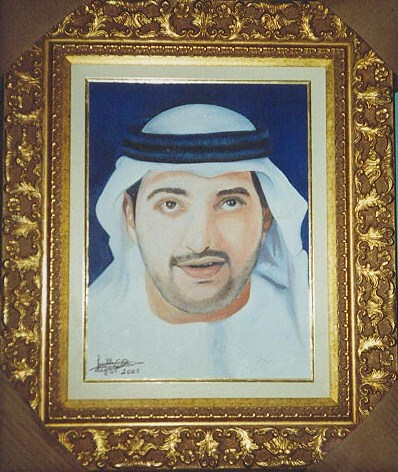 Location: Collection in Castle of Saudi Arabia. Portrait of Arabic music celebrity.