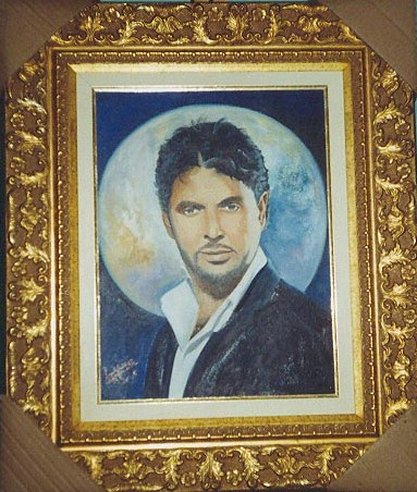Location: Private Collection in Castle of Saudi Arabia.- Portrait of Arabic music celebrity